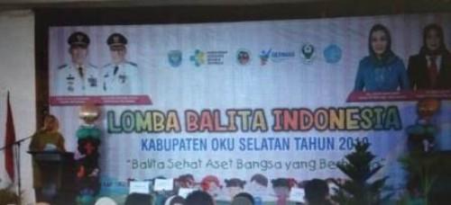 Dinas Kesehatan Kabupaten OKU Selatan telah menggelar Lomba Balita Indonesia (LBI) Tingkat Kabupaten OKU Selatan Tahun 2019, selasa (30/04).