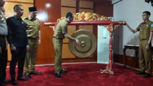 Pencanangan dan Sosialisasi Pelaksanaan Pemilihan Kepala Desa Serentak Kabupaten Ogan Komering Ulu Selatan