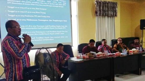 Jelang Pelaksanaan Pilkades Tim Kewaspadaan Dini Kebupaten OKU Selatan Rapat Koordinasi (Fhoto Imron)