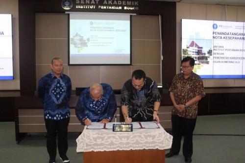 Jalin Kerjasama, Bupati OKU H. Kuryana Azis Melakukan Penandatanganan MoU Dengan Institut Pertanian Bogor